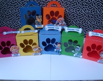 Paw Patrol Favor Box, Paw Patrol Treat Bags