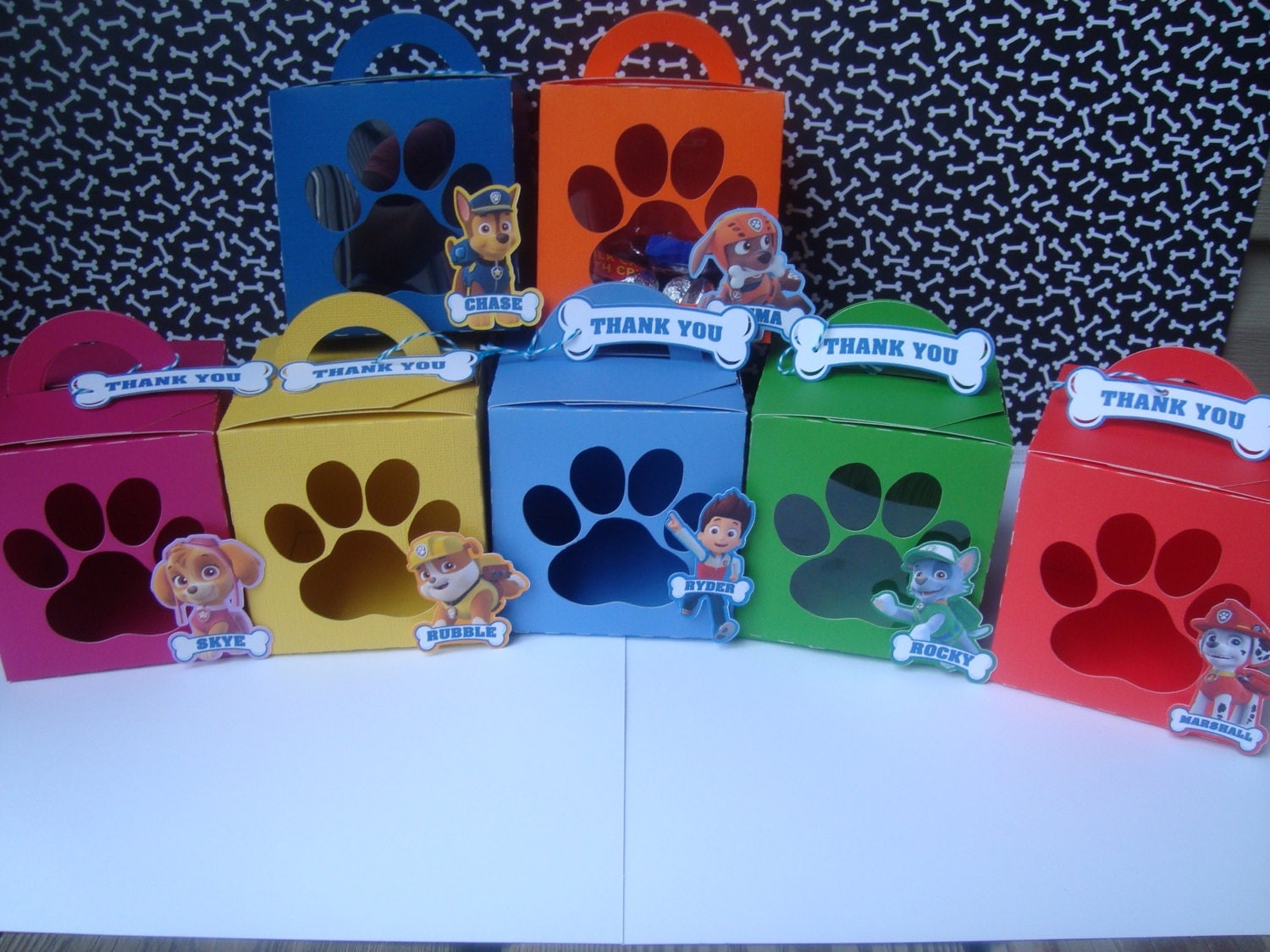 Paw Patrol Favor Box Paw Patrol Treat Bags