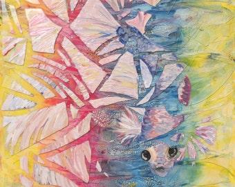 Abstract Fish Painting