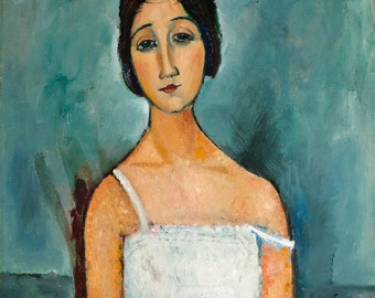 Christina by Amedeo Modigliani Home Decor Wall Decor Giclee Art Print Poster A4 A3 A2 Large Print FLAT RATE SHIPPING