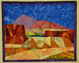 Mounted Art Quilt High Desert