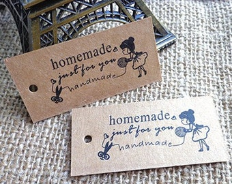 Hang tags handmade price tags 25 x.