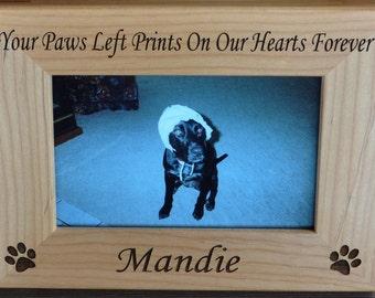Pet Loss Frame ~ Dog Frame ~ Pet Loss Gift ~ Engraved Pet Frame ~ Loss Of Pet Frame ~ Loss Of Cat Gift ~ Pet Picture Frame ~ Pet Sympathy ~