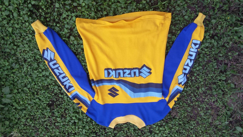 vintage suzuki motocross jersey
