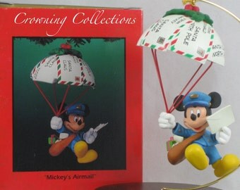 Enesco Disney Mickey's Airmail Ornament Mickey Mouse Air Mail USPS Post Office Christmas