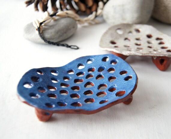 Blue soap dish ceramic soap dish bathroom accessories soap - Ceramic soap dishes for bathrooms ...