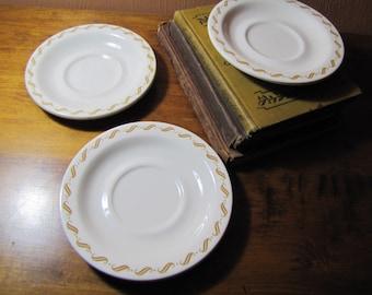 Vintage Buffalo China Saucers (3)