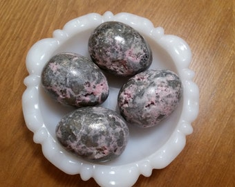 Pyrite and Rhodochrosite Egg