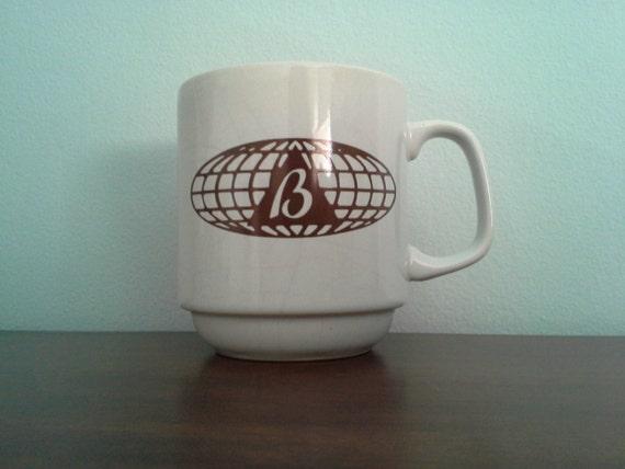 CEO Monogrammed Brown B Atomic Mad Men Mug