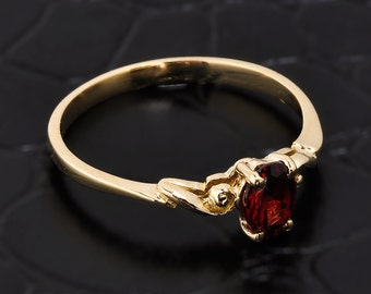 Stackable Garnet ring, gold garnet ring, yellow gold garnet ring, garnet stackable ring, stackable rings, garnet proposal, garnet birthstone