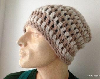 Beanie - crochet hat for men and women