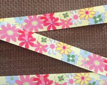 Flower Ribbon, Spring Ribbon, Summer Ribbon, Daisy Ribbon