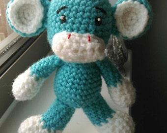 Cheeky Blue Amigurumi Monkey