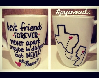 Best Friends, BFF, Personalized 12 oz Porcelain Cup Mug, BFF Gifts
