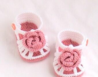 Crochet baby shoes,Crochet baby sandals,Crochet baby booties,Crochet white sandals,Crochet rose sandals,Crochet rose booties