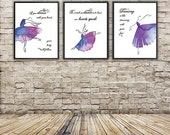 Ballet Art Prints/Set of 3 Prints-Modern Art, wall decor, home decor,dance teacher,gift idea,ballerina,5x7,8x10,11x14 - Great Gifts for Dance Teachers - Etsy Finds