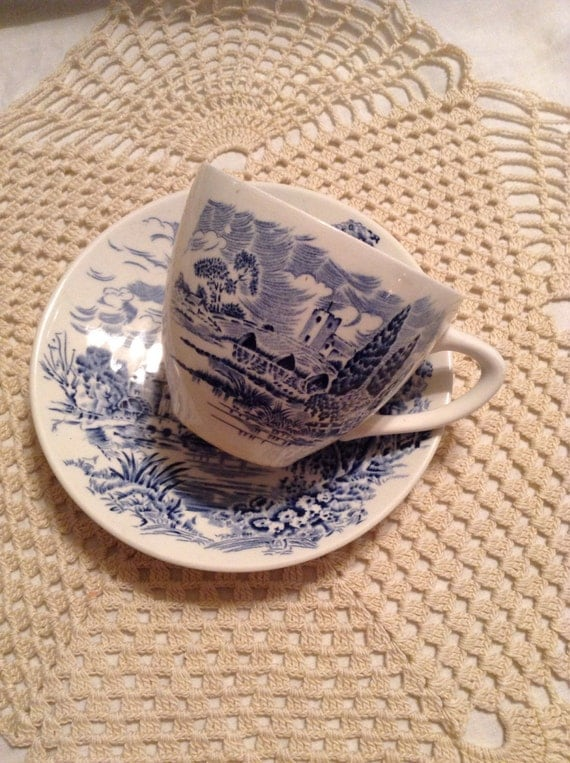 Blue Wedgewood Cup And Saucer 27