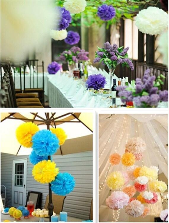 20pcs 13cm 5 Inch Paper Flower Balls Wedding Tissue Paper Pompoms