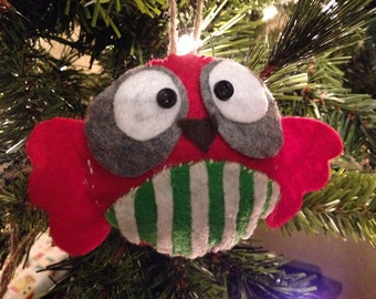 Striped Owl Ornament