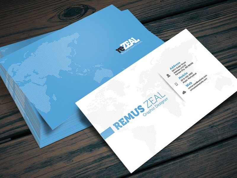 Corporate Business Card shop PSD Template Instant