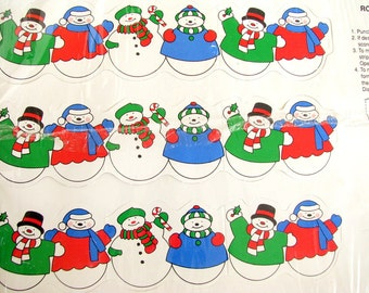 Vintage Paper Christmas Banner - Snowmen from Current (NIP)