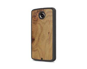 Google Nexus 6 #WoodBack Real Wood Case - Carpathian Elm Burl (FREE and Fast Delivery)