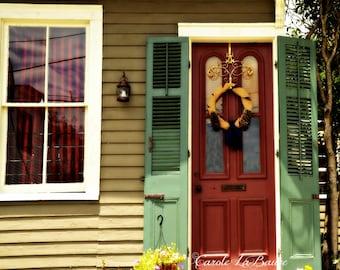 New Orleans Streetscape Photograph Shuttered Door Doors Of N O Louisiana Fine Art