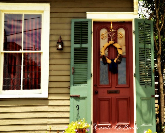 NEW ORLEANS STREETSCAPE Photograph ~ Shuttered Door ~ Doors of N.O. ~ New Orleans, Louisiana