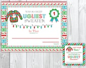 Sweater christmas party voting cards awards tacky christmas party