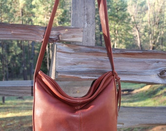 Large Leather Bucket Purse Bag