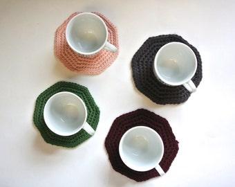 Handmade Crochet Coasters - Decorative Home Decor Coasters