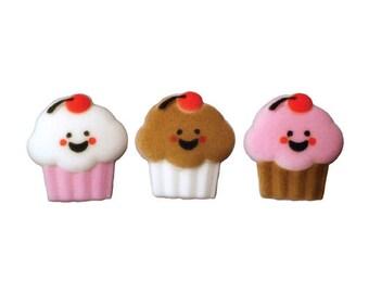 "Lucks ""Happy Face Cupcakes"" Sugar Decorations (12 Pieces)"