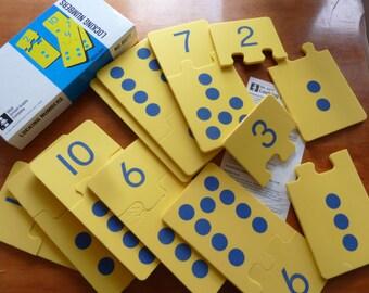 Vintage puzzle Locking numbers