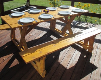 EZ-Access Cedar Picnic Table **Free Shipping US48**