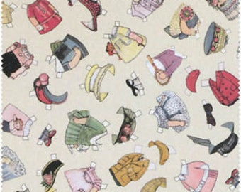 Blue Hill Fabric Aunt Lindy's Paper Dolls Around The World 7168 - 8