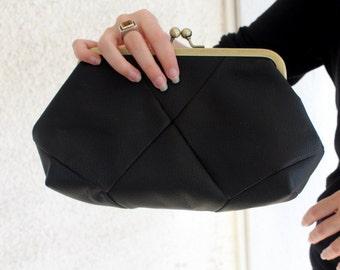 Black Evening Clutch / Black bag - Women's bag / Black clutch / Evening clutch purse - evening bag