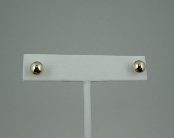 Classic Vintage 6 mm Hollow Ball 14K Gold Stud Earrings #6MMHB-ERG1