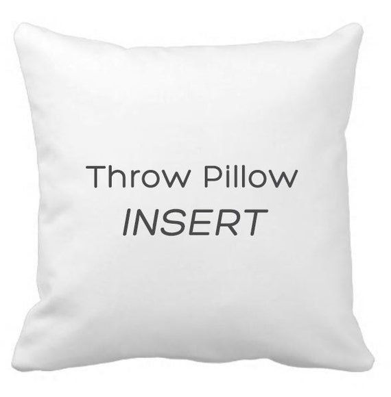 Throw Pillow Insert : Throw pillow insert / faux down pillow insert.