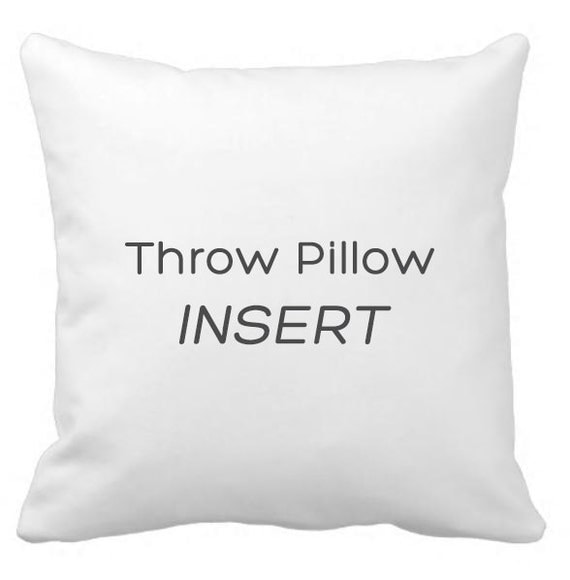 Pillow Inserts For Throw Pillows : Throw pillow insert / faux down pillow insert.