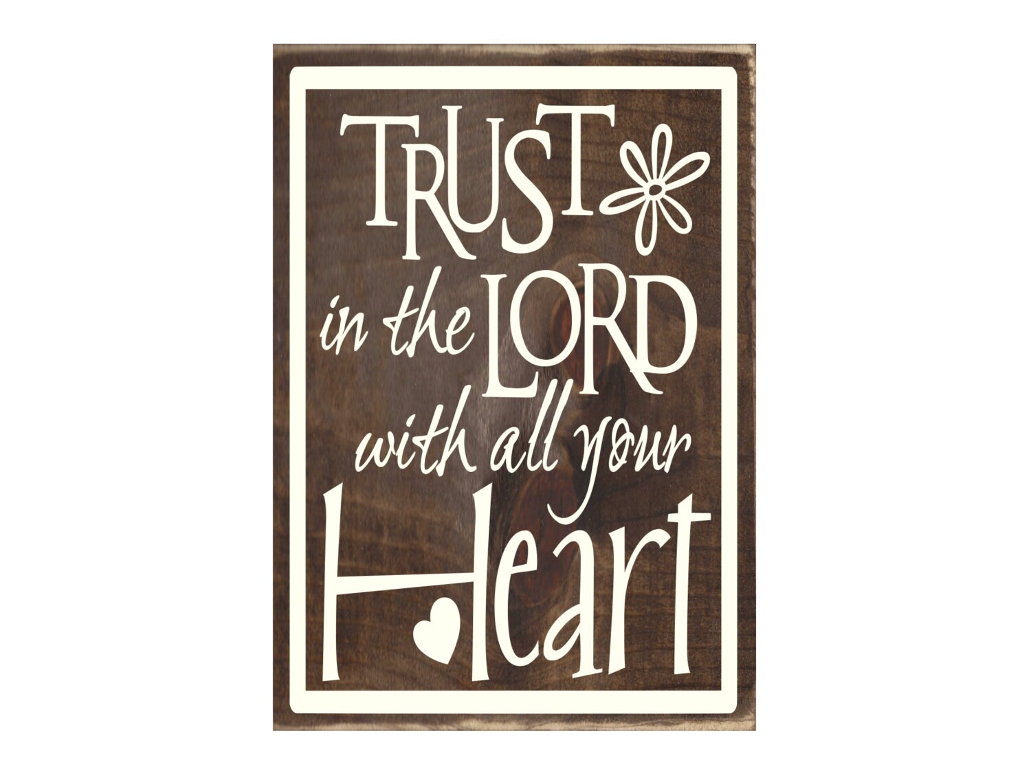 Christian Plaque Rustic Wood Sign Wall Decor Trust In The