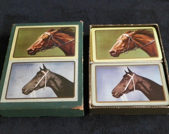 """Game of cards Horses races """"Carioca"""" and """"Hydrogen"""" French vintage 1960's"""