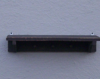 Wall Shelf with Pegs