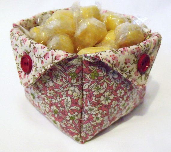 Square Quilted Storage Folded Fabric Pot For By