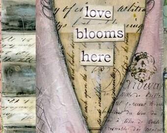 Love Blooms Here Print
