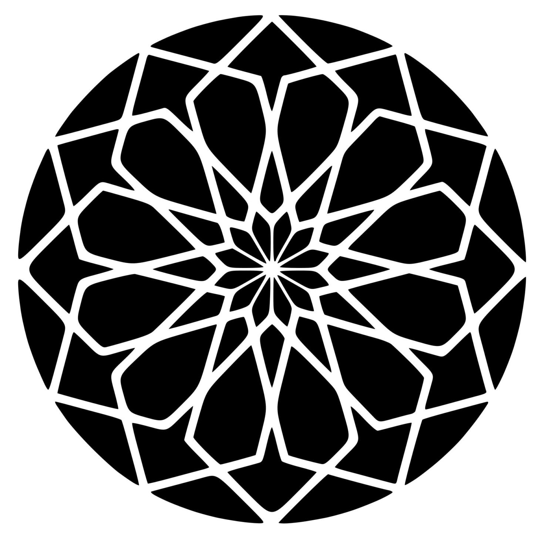 Square Rose Sacred Geometry Die Cut Decal By