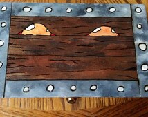 Wooden Dice Box- Mimic