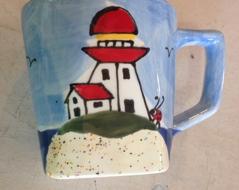 Square Lighthouse Mug