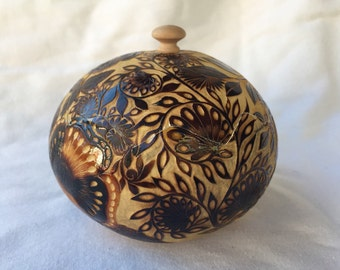 Hand-carved gourd box