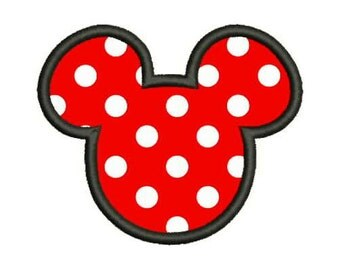 Outline Micky Machine Applique Embroidery Designs 3 Size - INSTANT DOWNLOAD