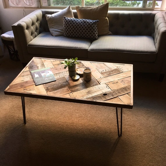 Items Similar To Reclaimed Wood Coffee Table W/ Hairpin